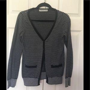 Forever 21 V neck cardigan black & white cardigan